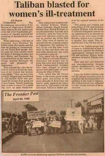The Frontier Post, April 29,1998