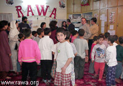 Basque Minister with RAWA orphans