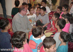 Mr. Javier Madrazo in a RAWA orphanage