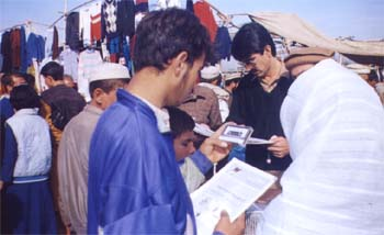 Members of RAWA selling their publications