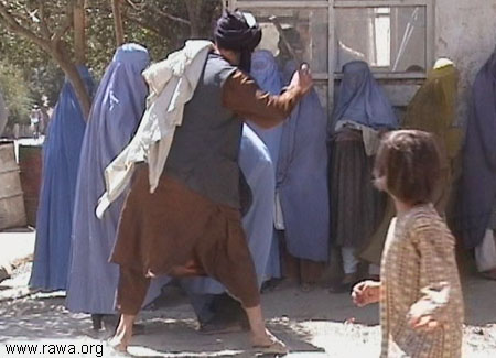 Taliban beating women in public