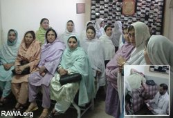 A group of RAWA women who donated blood