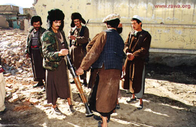 Dostum Troops in Kabul