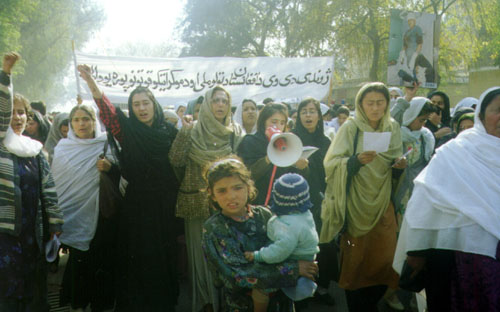 Around 1000 women and girls participated in the RAWA protest procession