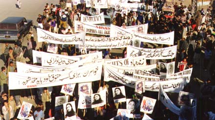 Demonstration of RAWA against USSR invation on Afghanistan.