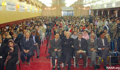 Over 1,500 women and men participated in the RAWA event in Kabul