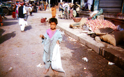 An Afghan child in Islamabad