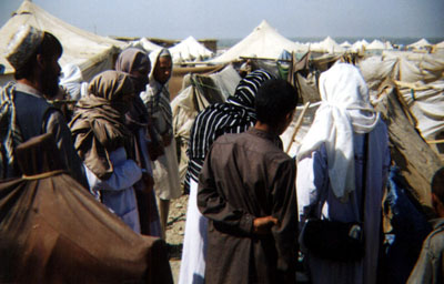 RAWA activists visit the Akora Khattak camp