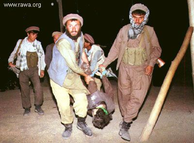 Jehadi criminals in action in Kabul on Sep.7, 1992