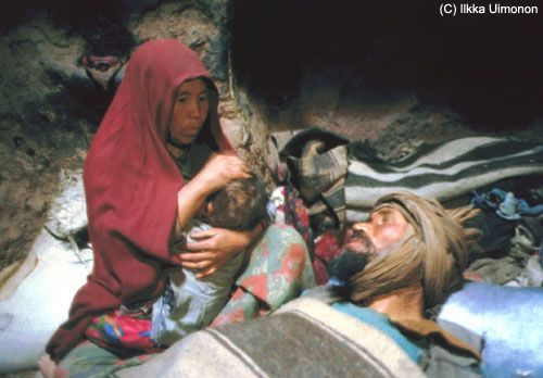 People in Bamyan still live in caves in poverty.