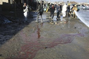 sucide blast area in Kabul