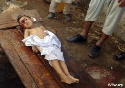 Child killed by US troops
