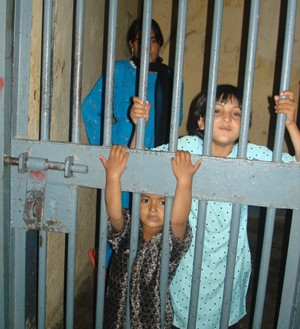 Children in Pul-e-Charkhi prison in Kabul
