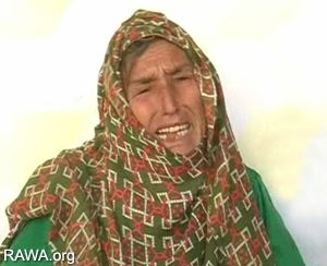 Gulsha, Sanobar's mother cries while talking to journalists.