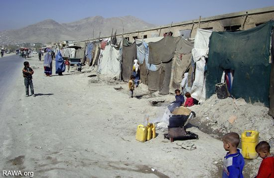 Displaced people in Kabul