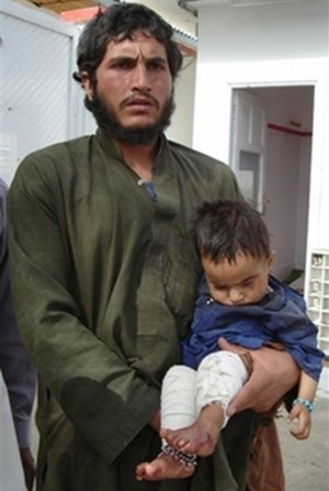 Victim of Musa Qala bombing