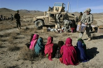 A.P depicts Afghan girls waiting to receive toys