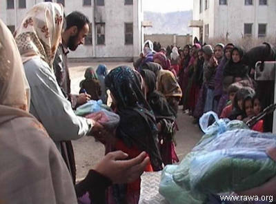 RAWA's aid to biggest Kabul Orphanage