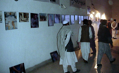 Photo exhibition from the crimes committed by the fundamentalists in Afghanistan.