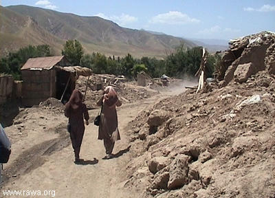 Earthquake victims in Nahrin - North Afghanistan