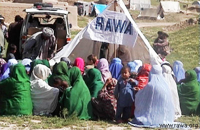 Earthquake victims in Nahrin