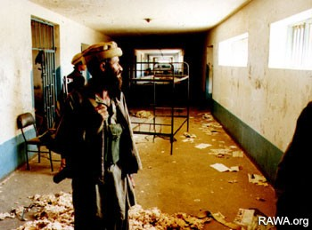 Inside view of Pul-e-Charkhi prison after it was captured by the fundamentalists in 1992.