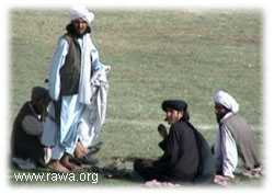 Large number of Taliban armed guards were present in the scene