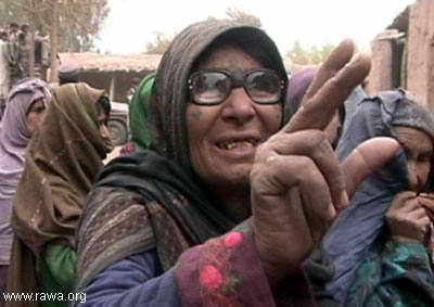An aged mother from Kundoz province describes her miseries.