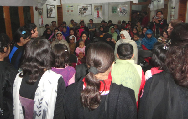 A group of students performing songs