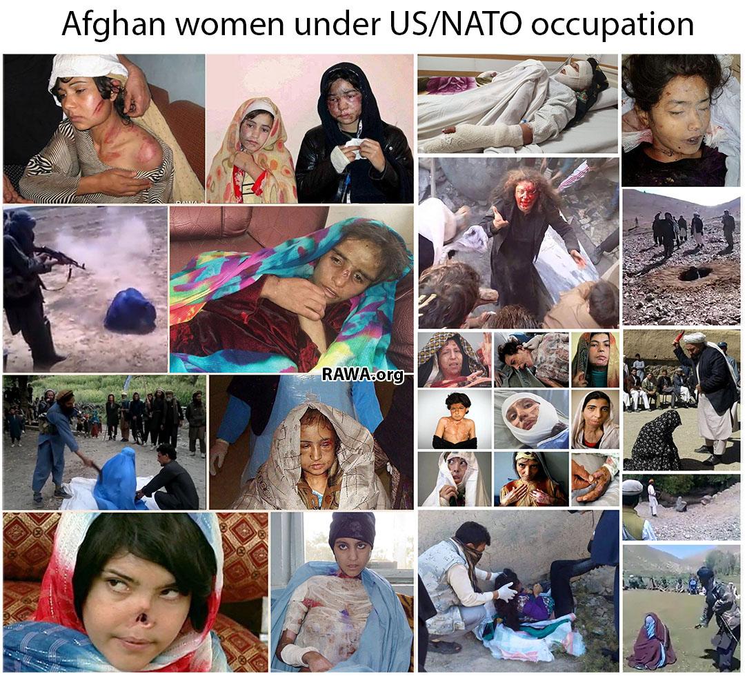 Afghan women under US/NATO occupation  border=