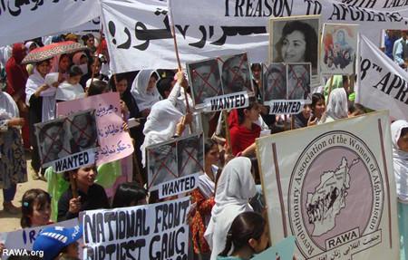 RAWA manifestación el 28 de abril