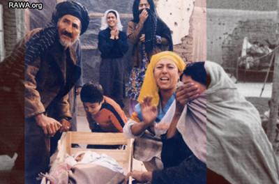 خانواده سوگواری که یکی از پسران خود را در جنگهای وحشیانه تنظیمی از دست داده است
