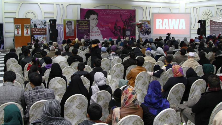 RAWA function in Kabul