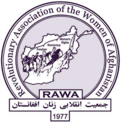 Logo da RAWA (Associação revolucionária das mulheres do Afeganistão)