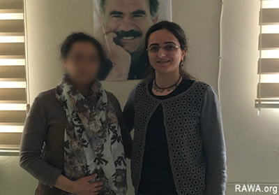 RAWA representative with Ceylan Bağriyanik, head of Free Women's Movement (TJA)