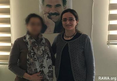 RAWA representative with Ceylan Bağriyanik, head of Free Women's Movement (TJA)