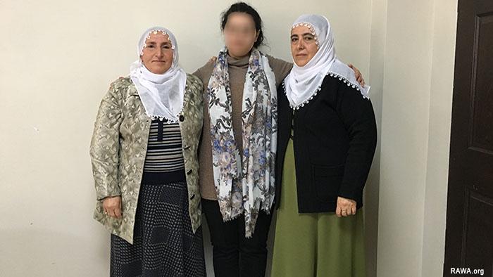 RAWA member Heela Faryal Turkey Kurdistan trip March 2017
