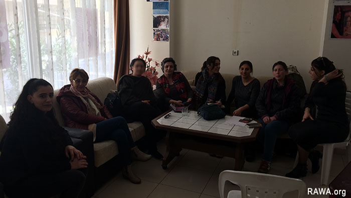 RAWA member Heela Faryal Turkey Kurdistan trip March 2017
