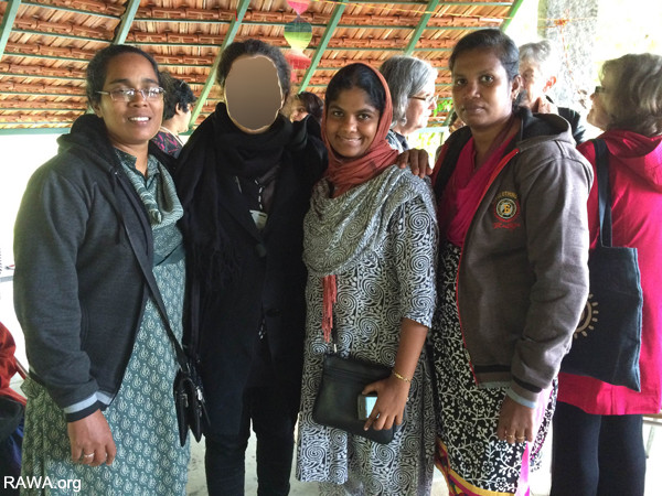 Women in Black Conference in Bangalore India attended by RAWA member