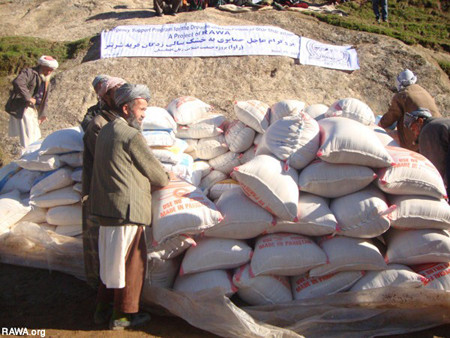 RAWA distributed aid to more than 800 people