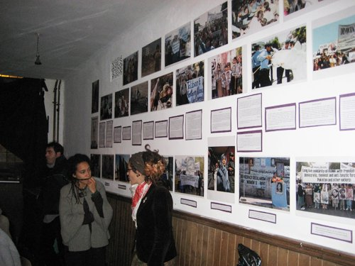 The photographic display of RAWA's activities