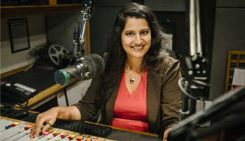 Sonali Kolhatkar in her studio