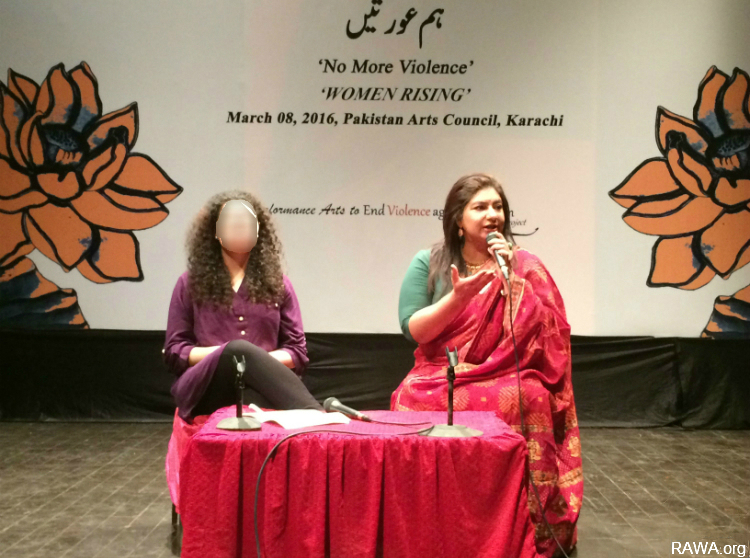 RAWA member attends Tehrik-e-Niswan conference on IWD in Karachi Pakistan