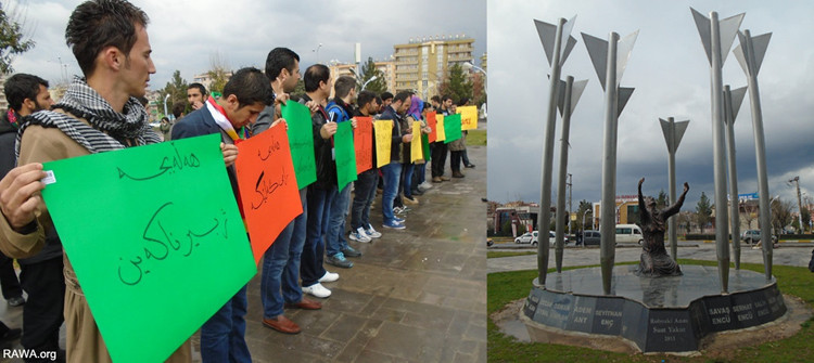 Sit-in staged in Diyarbakir to mark the anniversary Halebja Massacre