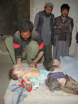 Childern killed in the US bombs