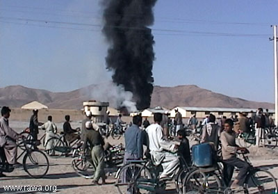 Kabul under the US strikes