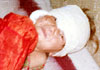A child wounded in Jalalabad due to US bombardment of residential areas (February 12, 2002)
