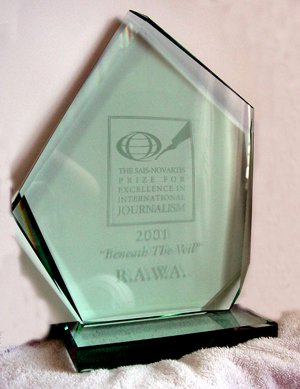 2001 SAIS-Novartis International Journalism Award