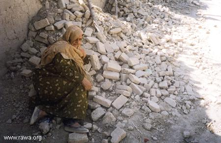 People's homes destroyed by Kabul Police