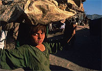 Afghan children in Pak-Afghan border